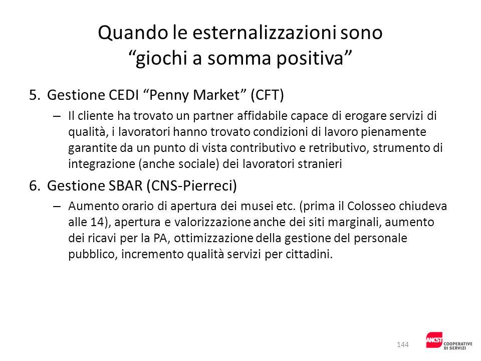 Quando le esternalizzazioni sono giochi a somma positiva 5.Gestione CEDI Penny Market (CFT) – Il cliente ha trovato un partner affidabile capace di er