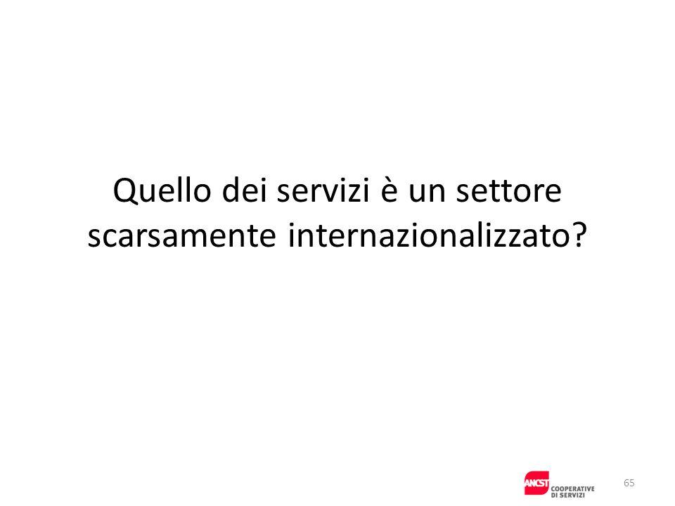 Quello dei servizi è un settore scarsamente internazionalizzato? 65