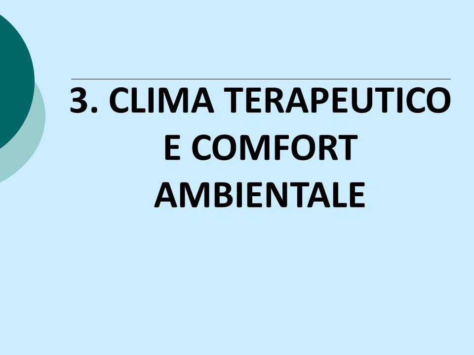 3. CLIMA TERAPEUTICO E COMFORT AMBIENTALE