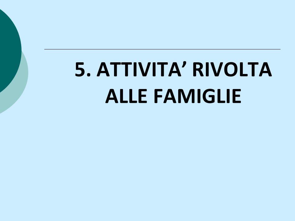 5. ATTIVITA RIVOLTA ALLE FAMIGLIE