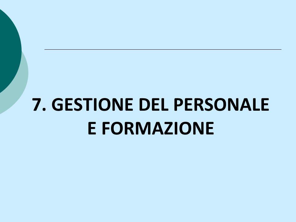 7. GESTIONE DEL PERSONALE E FORMAZIONE