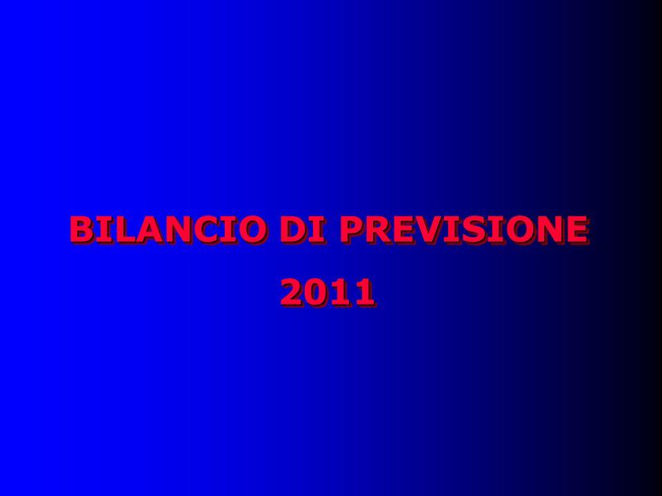 BILANCIO DI PREVISIONE 2011 2011