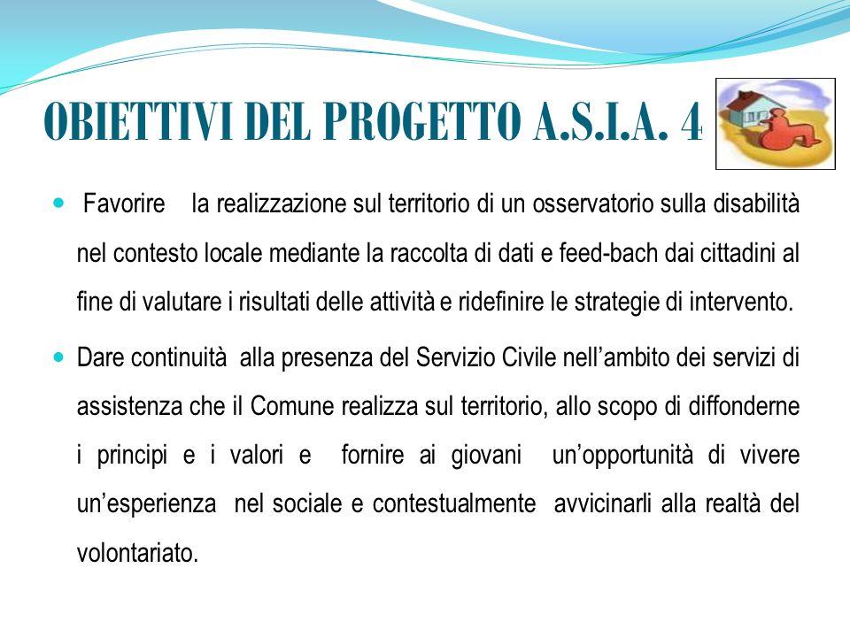 OBIETTIVI DEL PROGETTO A.S.I.A.