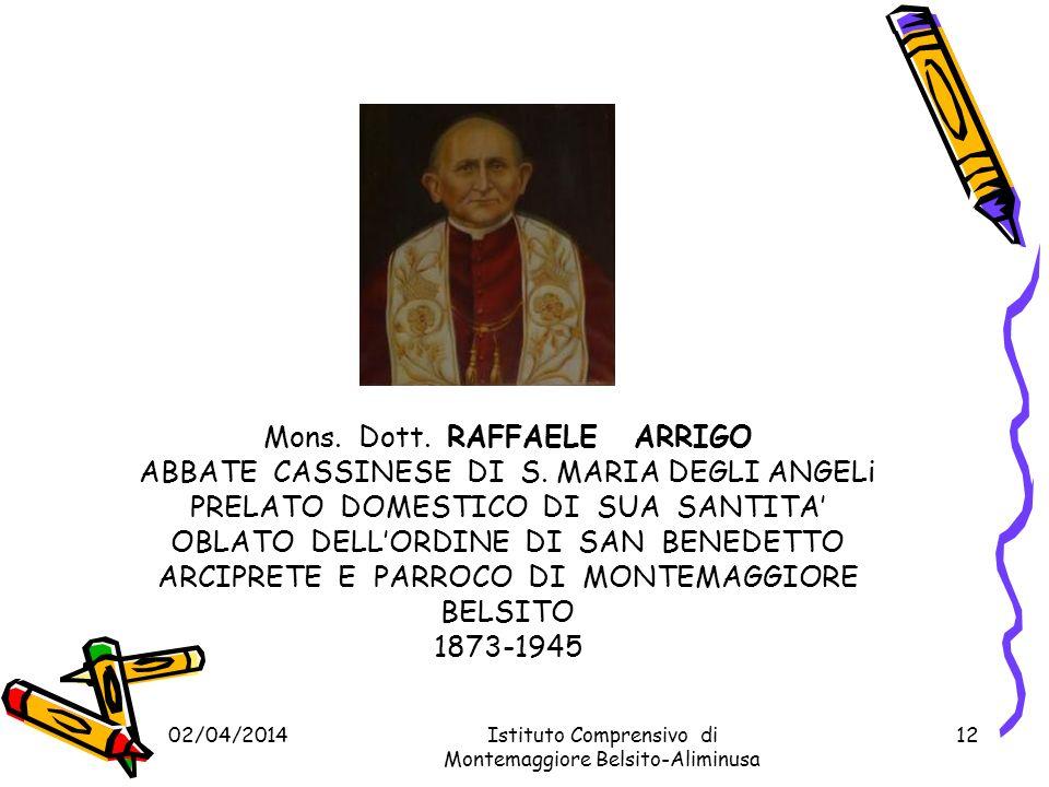 02/04/2014Istituto Comprensivo di Montemaggiore Belsito-Aliminusa 11 La scuola Media di Aliminusa