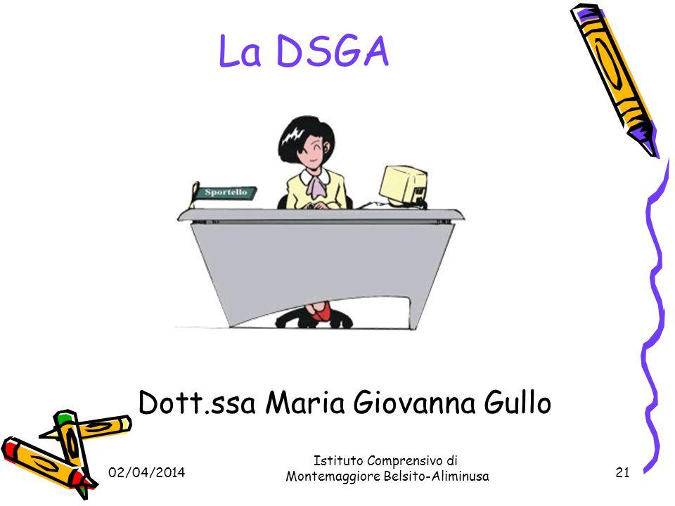 02/04/201420 La Dirigente Dirigente Scolastico : Dott.ssa Anna Geraci Istituto Comprensivo di Montemaggiore Belsito-Aliminusa