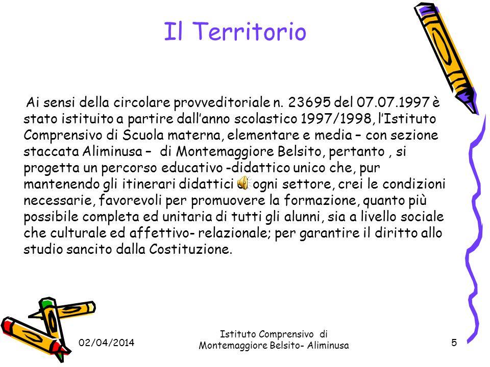 02/04/2014 Istituto Comprensivo di Montemaggiore Belsito- Aliminusa 5 Ai sensi della circolare provveditoriale n.