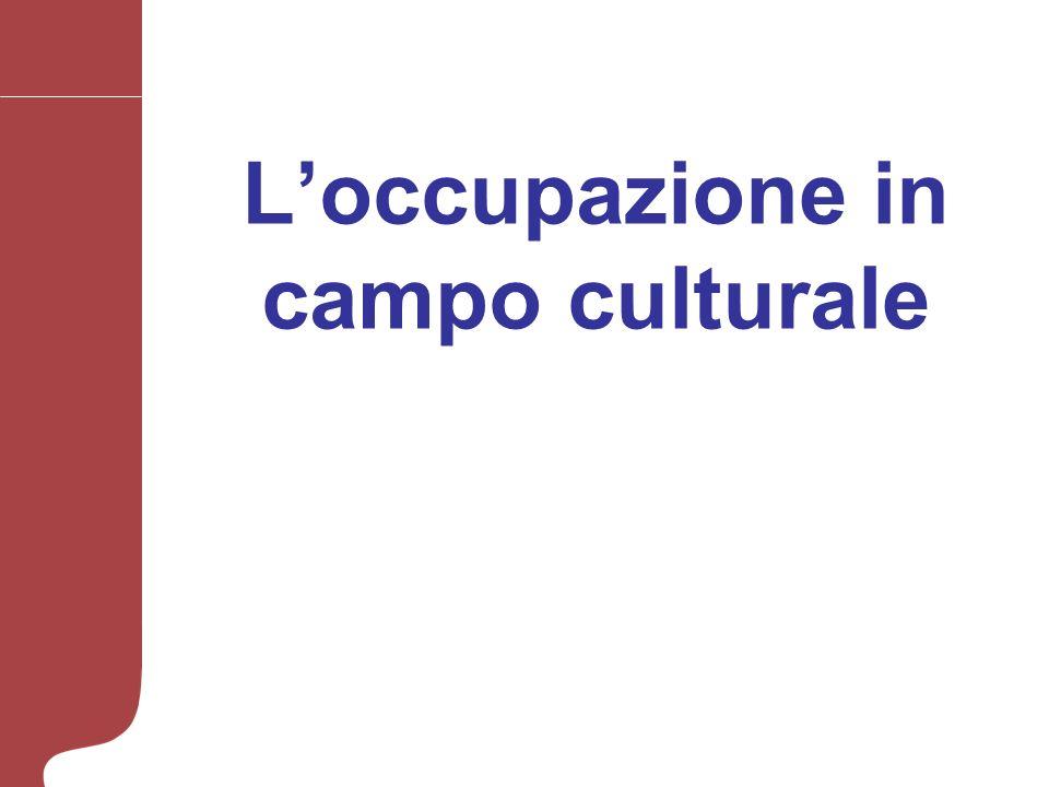 Loccupazione in campo culturale