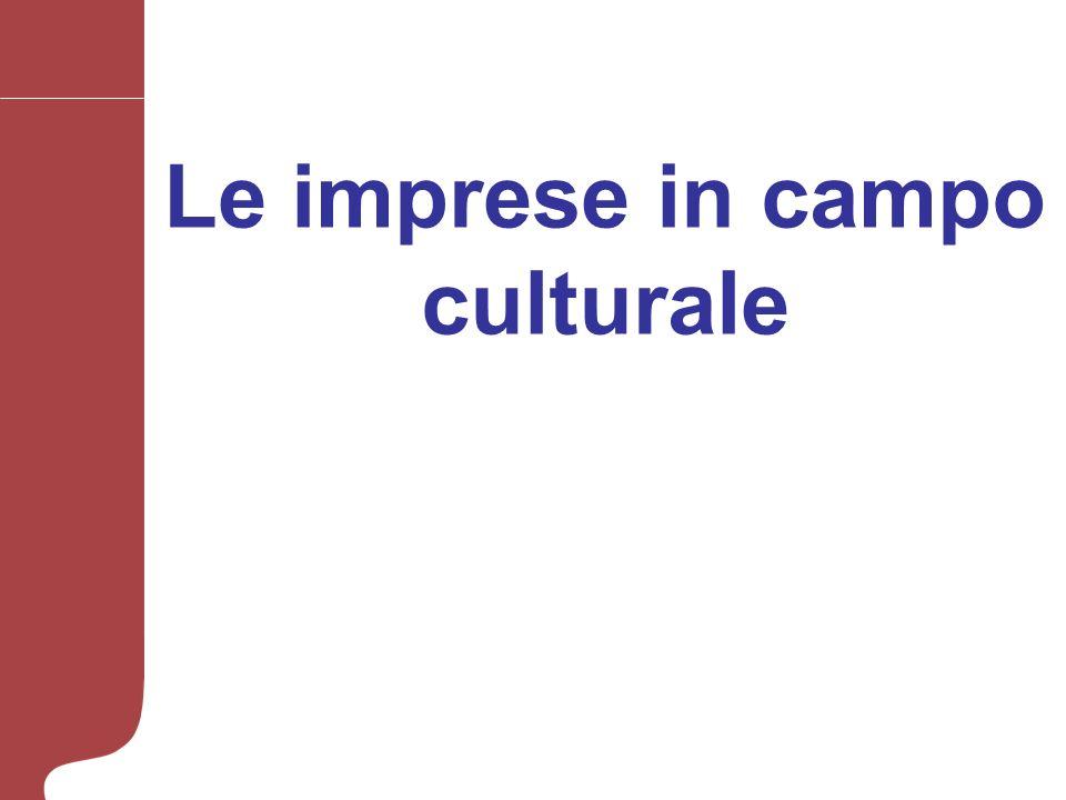 Le imprese in campo culturale