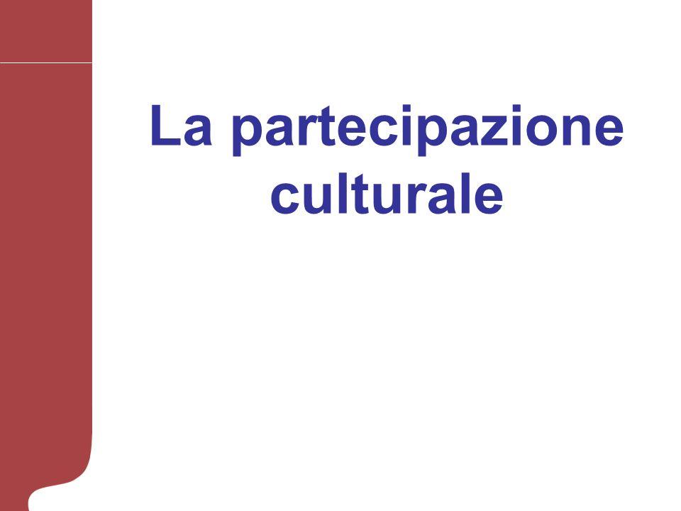 La partecipazione culturale