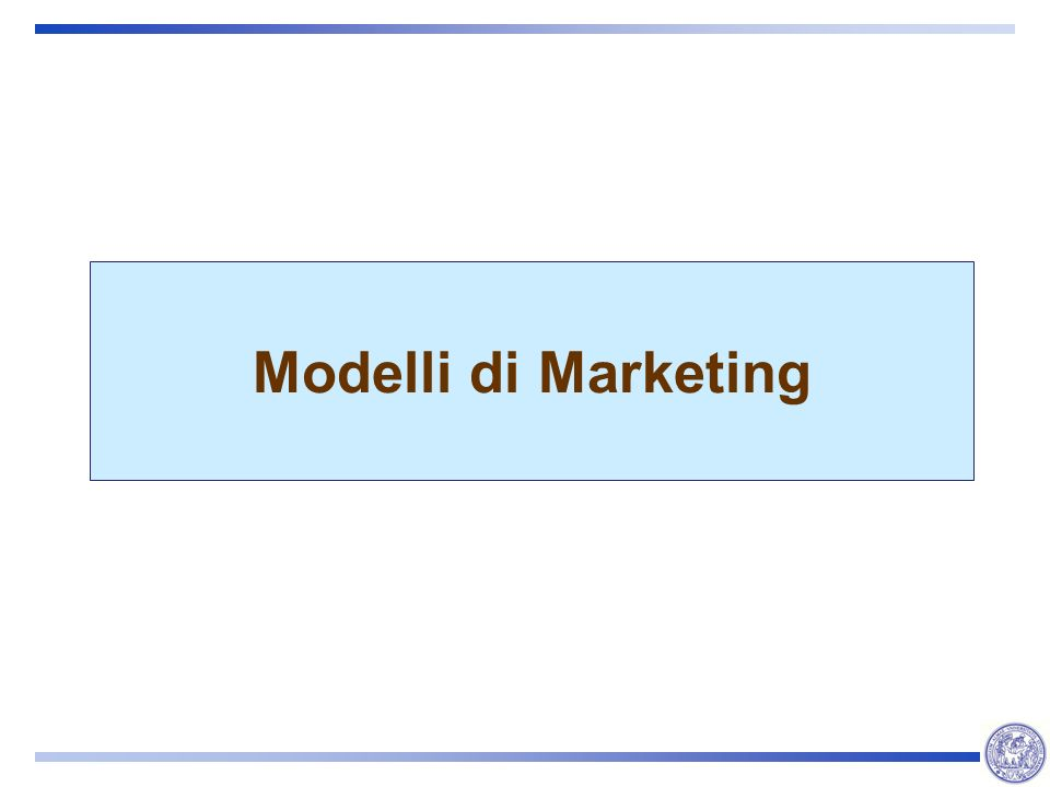 Modelli di Marketing