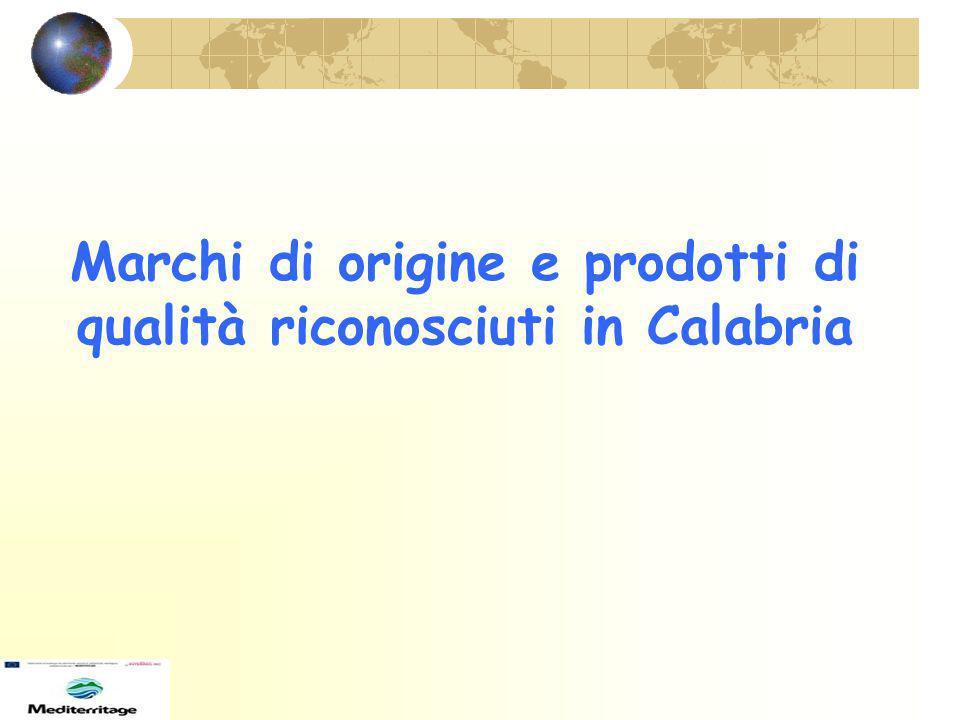 Marchi di origine e prodotti di qualità riconosciuti in Calabria