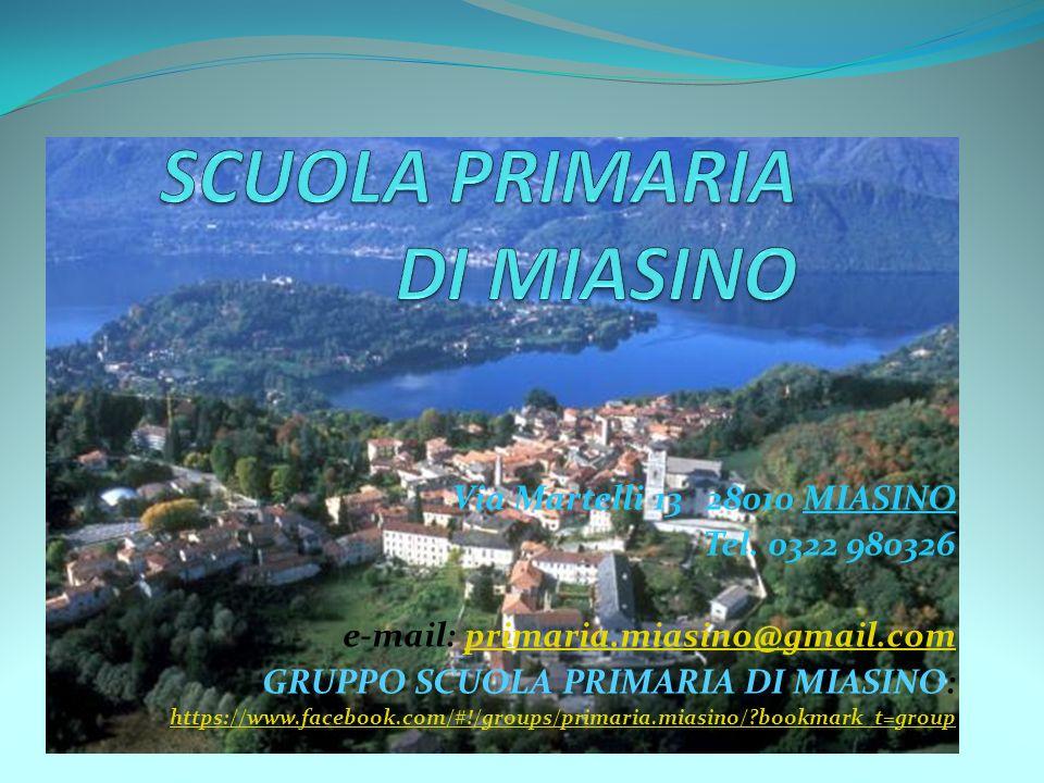 Via Martelli 13 28010 MIASINO Tel.