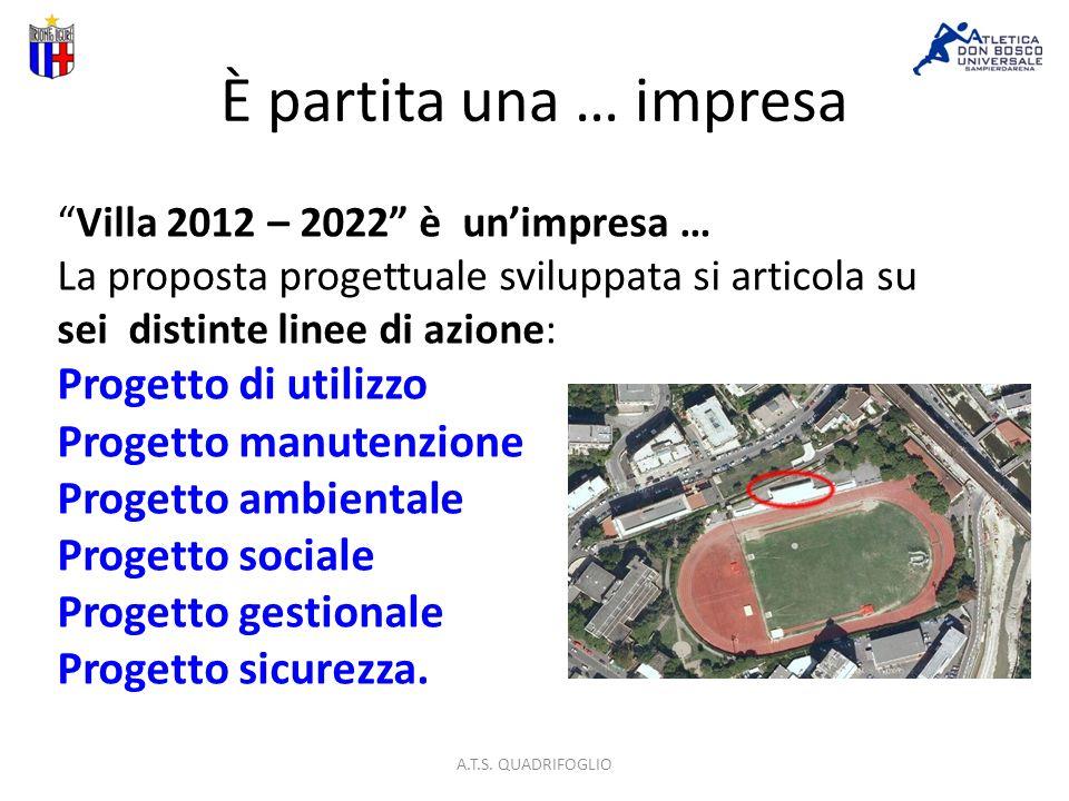 È partita una … impresa Villa 2012 – 2022 è unimpresa … La proposta progettuale sviluppata si articola su sei distinte linee di azione: Progetto di utilizzo Progetto manutenzione Progetto ambientale Progetto sociale Progetto gestionale Progetto sicurezza.