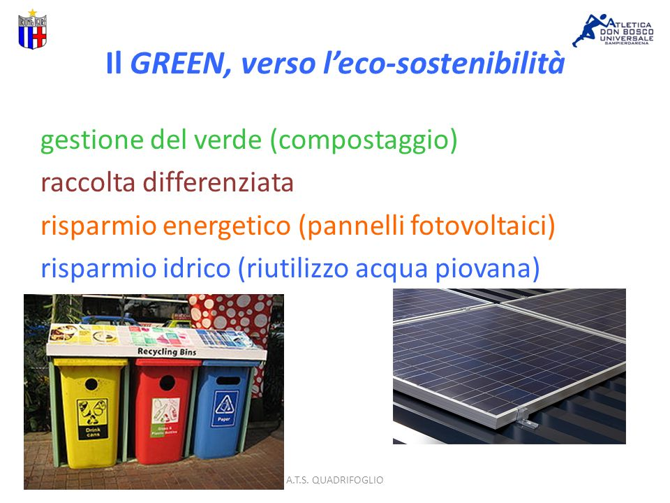 Il GREEN, verso leco-sostenibilità A.T.S.
