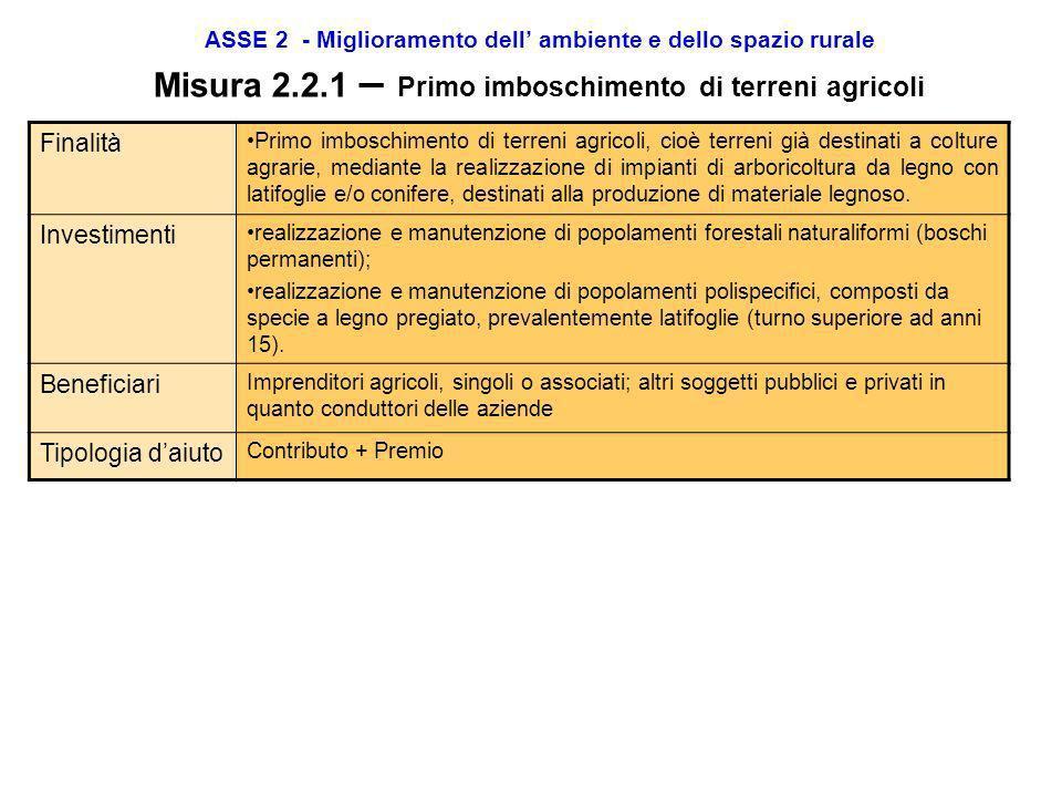 ASSE 2 - Miglioramento dell ambiente e dello spazio rurale Misura 2.1.6 – Sostegno agli investimenti produttivi Finalità Lobiettivo strategico della m