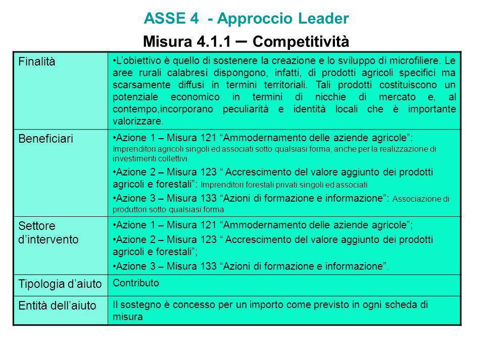 ASSE 3 - Qualità della vita nelle zone rurali e diversificazione delleconomia rurale Misura 3.3.1 – Formazione ed informazione Finalità La misura è ri