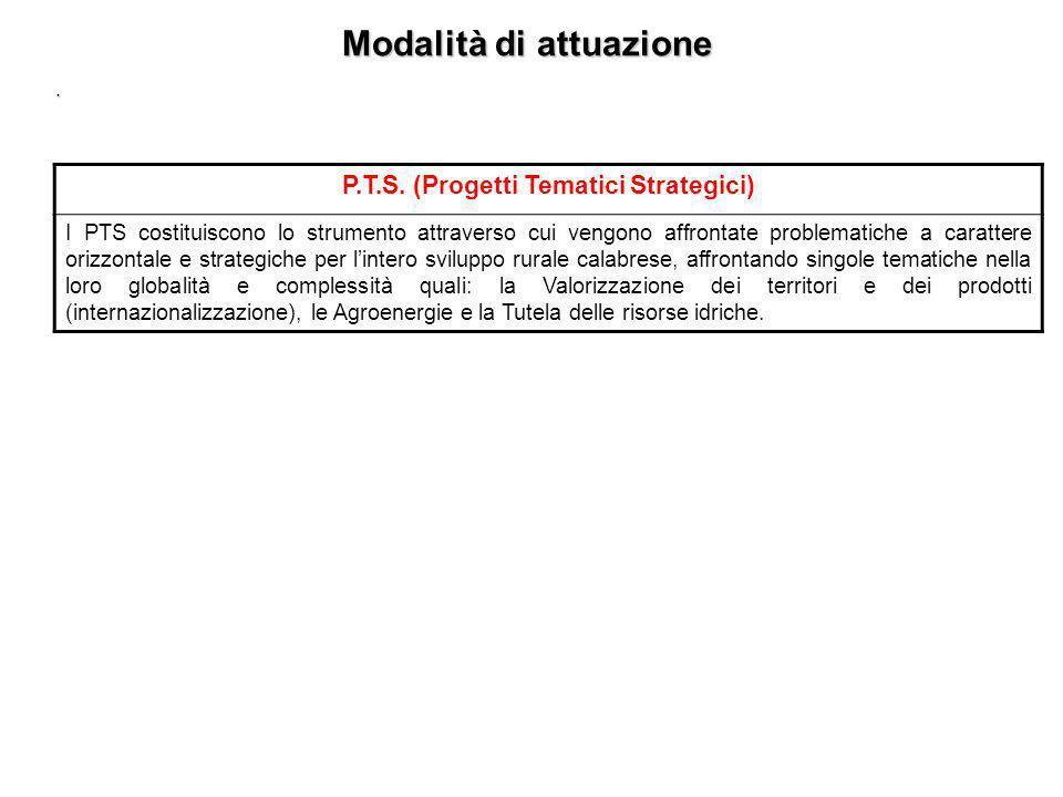 Modalità di attuazione. P.I.F. (Progetti Integrati per le FILIERE) Sono progetti integrati, relativi ai comparti produttivi significativi (in termini