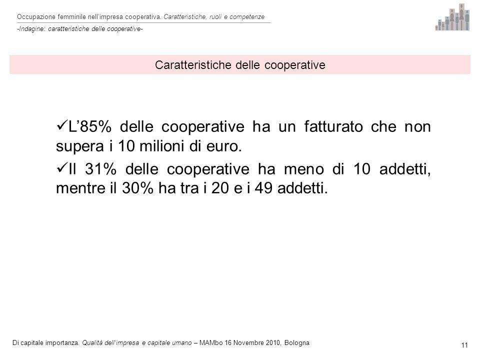 Occupazione femminile nellimpresa cooperativa.