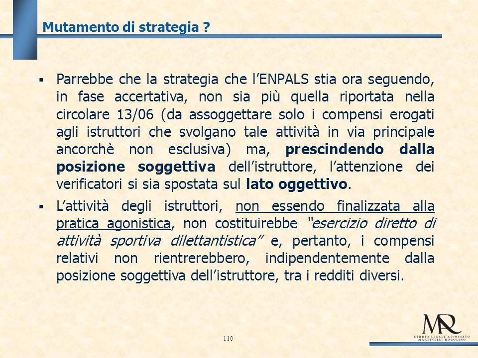 Mutamento di strategia .