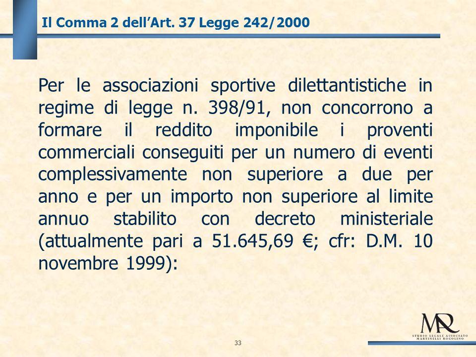 33 Il Comma 2 dellArt.