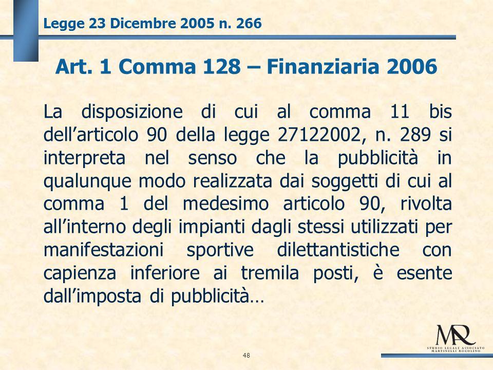 48 Legge 23 Dicembre 2005 n. 266 Art.