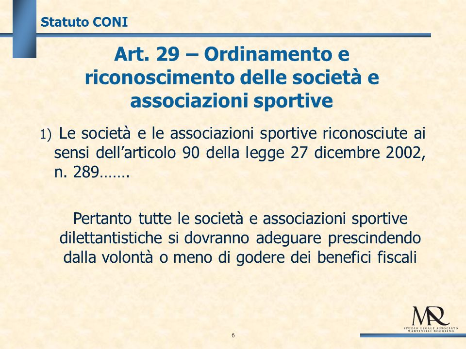 37 Art.90 Legge 289/2002 Disposizioni per lattività sportiva dilettantistica (Comma 2) LIMITE L.