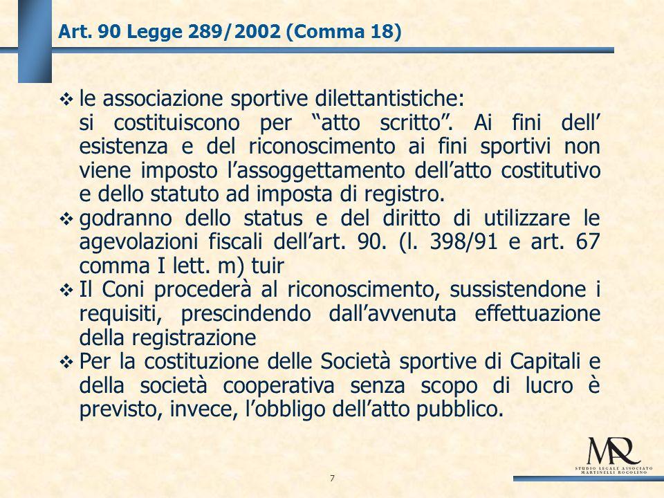 SPORTIVI PROFESSIONISTI E ADDETTI AGLI IMPIANTI SPORTIVI – CHIARIMENTI.