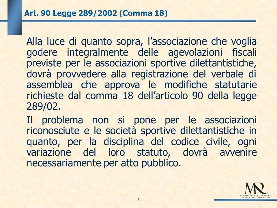 9 Enti non commerciali Sotto il profilo civilistico non vengono dettati obblighi contabili per gli enti non lucrativi di cui al Libro Primo del Codice Civile.