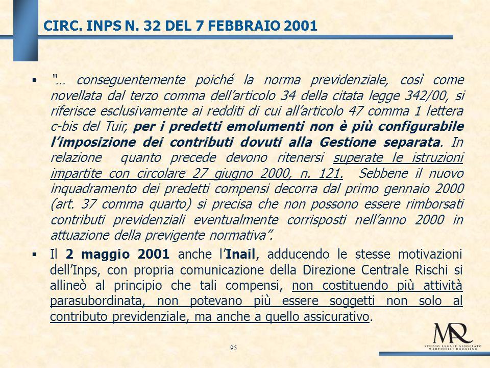 CIRC. INPS N.