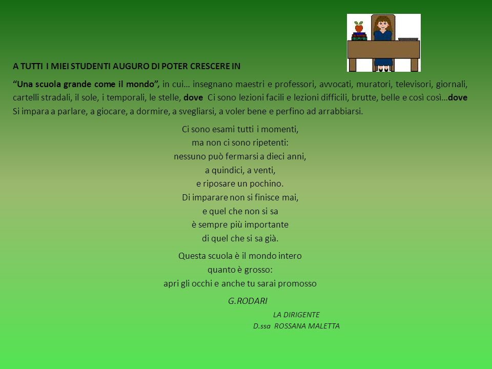 VALUTAZIONE DEL COMPORTAMENTO INDICATORIVOTO Comportamento/Atteggiamento- Pieno rispetto del regolamento dIstituto - Attenzione e disponibilità verso gli altri - Ruolo propositivo allinterno della classe e funzione di leader positivo - * Si è distinto in qualche episodio o comportamento esemplare 10 Partecipazione - Vivo interesse e partecipazione attiva con interventi pertinenti e personali - Assolvimento completo e puntuale dei doveri scolastici Socializzazione - Evidenzia un eccellente grado di conoscenza e accettazione di sé, dimostra completa disponibilità a lavorare e collaborare con compagni ed insegnanti Comportamento/Atteggiamento- Ruolo positivo e collaborativo nel gruppo classe - Pieno rispetto del regolamento distituto - Ruolo positivo nel gruppo classe 9 Partecipazione - Vivo interesse e partecipazione costante alle lezioni - Pieno assolvimento nelle consegne scolastiche Socializzazione - Evidenzia un elevato grado di conoscenza e accettazione di sé, dimostra ampia disponibilità a lavorare e collaborare con compagni ed insegnanti Comportamento/Atteggiamento- Rispetto delle norme fondamentali del regolamento dIstituto - Ruolo collaborativo al funzionamento del gruppo classe - Equilibrio nei rapporti interpersonali 8 Partecipazione - Attenzione e partecipazione costante al dialogo educativo - Assolvimento regolare nelle consegne scolastiche Socializzazione - Evidenzia un buon grado di conoscenza e accettazione di sé e buona disponibilità a lavorare e collaborare con compagni ed insegnanti