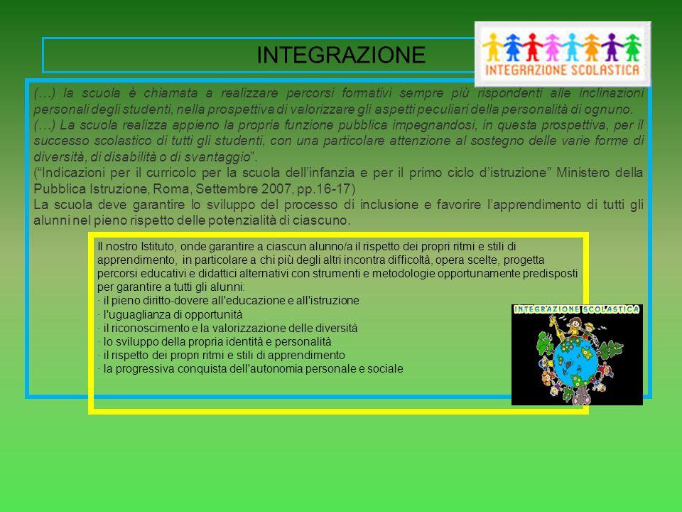 (…) la scuola è chiamata a realizzare percorsi formativi sempre più rispondenti alle inclinazioni personali degli studenti, nella prospettiva di valor