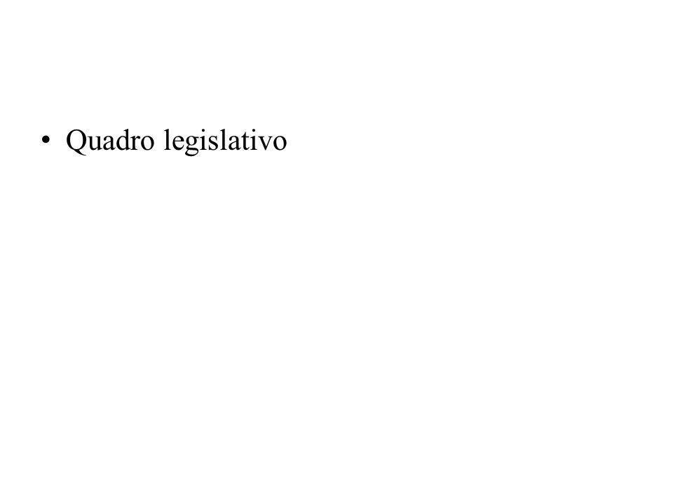 Quadro legislativo