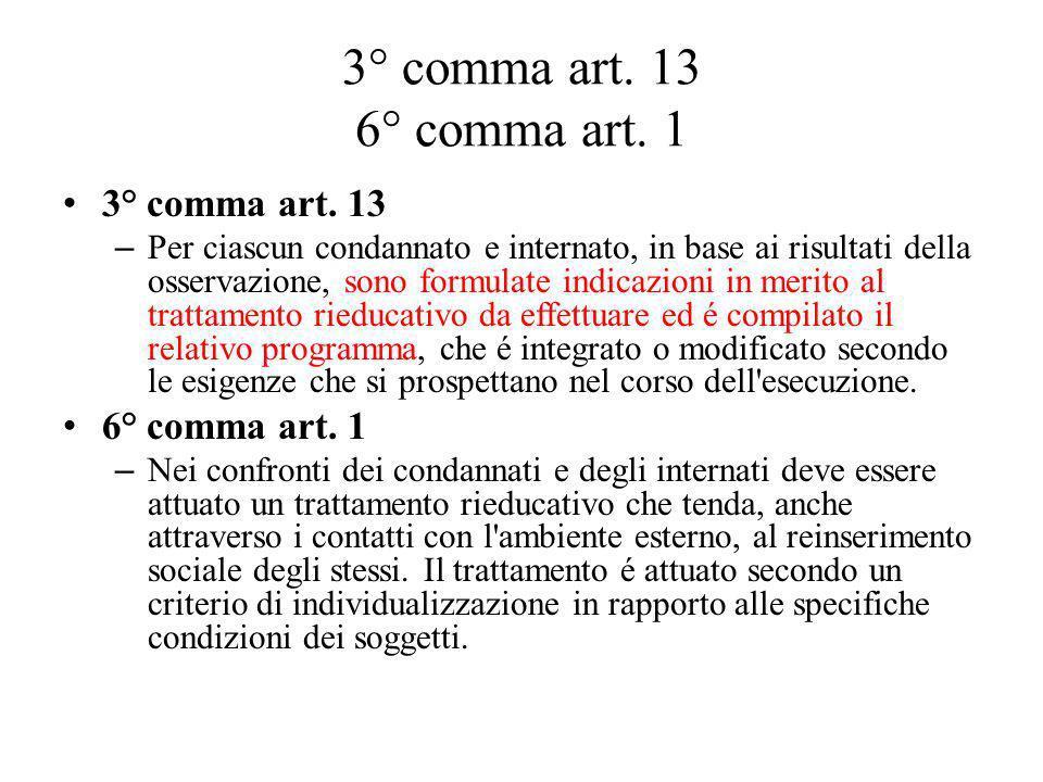 3° comma art.13 6° comma art. 1 3° comma art.