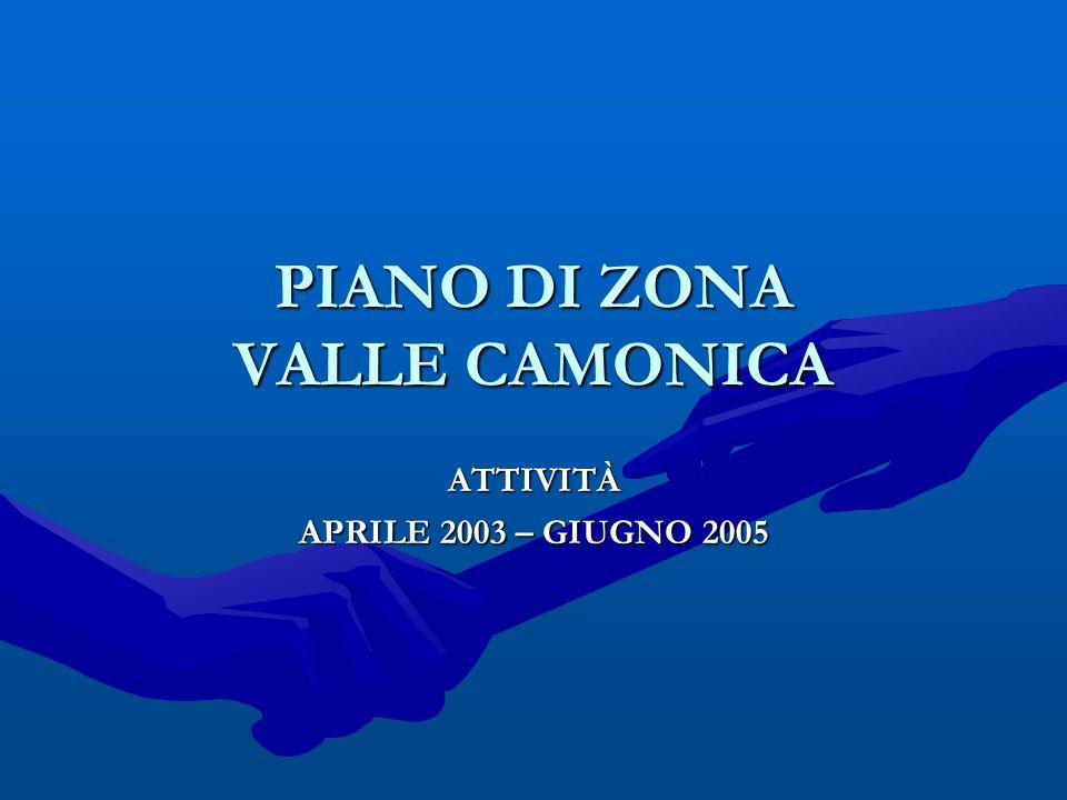 PIANO DI ZONA VALLE CAMONICA ATTIVITÀ APRILE 2003 – GIUGNO 2005