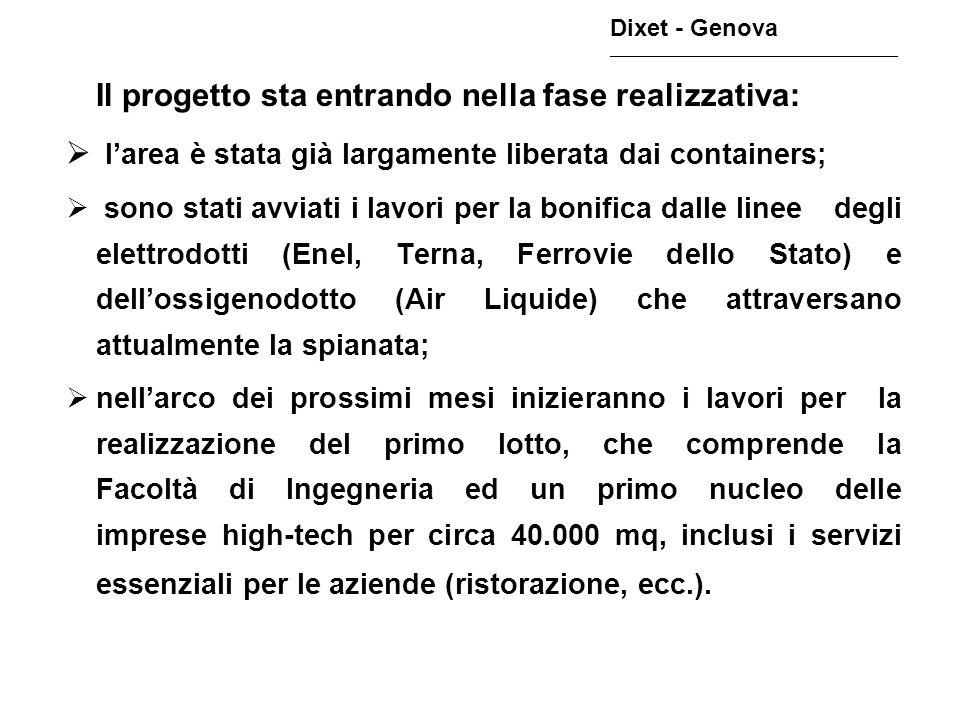 Nel Parco Leonardo avranno dunque sede: Dixet - Genova ________________________________________________ la Facoltà di Ingegneria dellUniversità di Genova, che occuperà circa 90.000 mq.