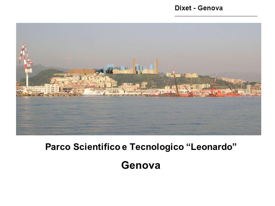 Parco Scientifico e Tecnologico Leonardo Genova Dixet - Genova ________________________________________________
