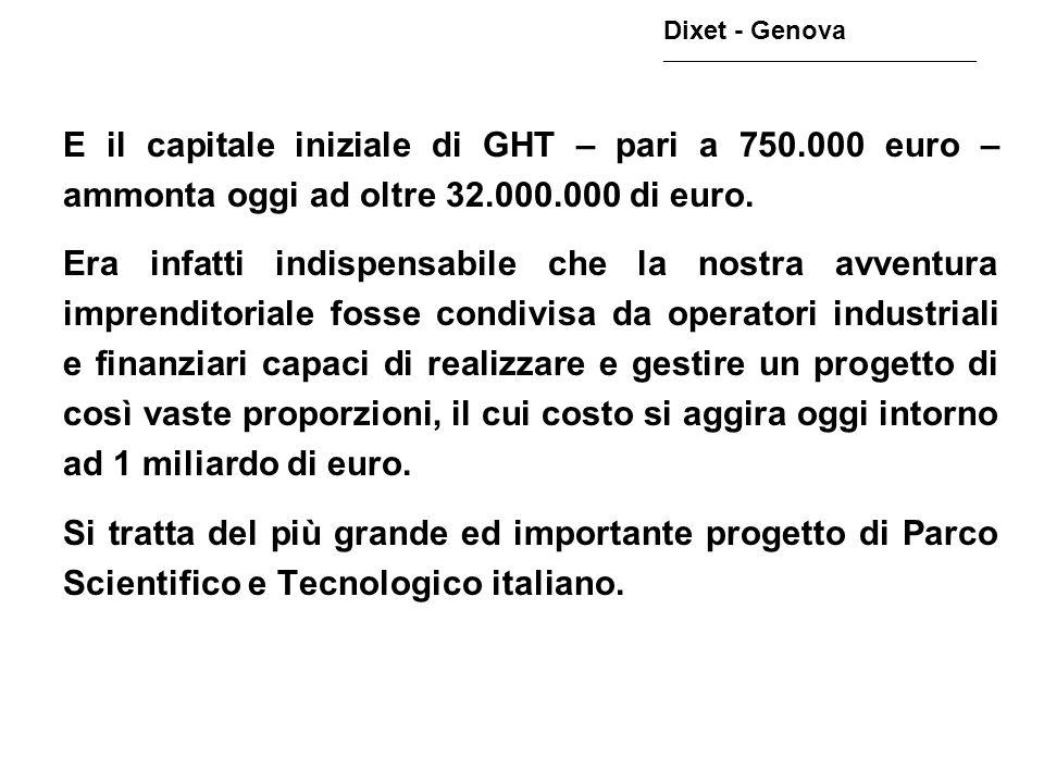 E il capitale iniziale di GHT – pari a 750.000 euro – ammonta oggi ad oltre 32.000.000 di euro. Era infatti indispensabile che la nostra avventura imp