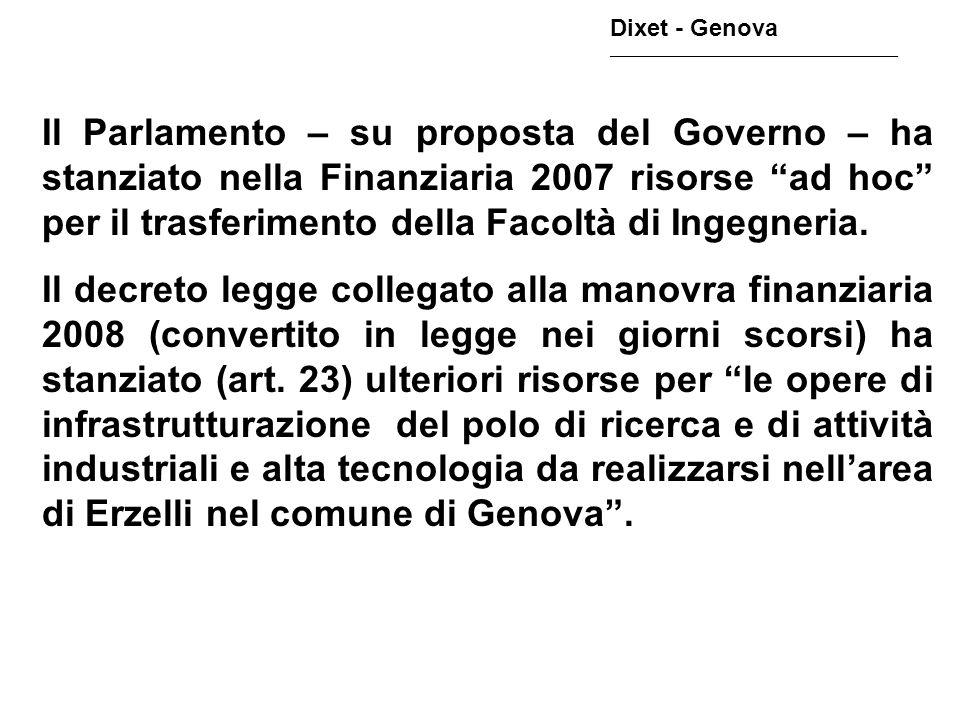 Il 4/4/2007 è stato approvato lAccordo di Programma tra Comune di Genova, Regione Liguria, Università degli Studi e GHT per lapprovazione dello Schema di Assetto Urbano – SAU - del Parco Leonardo.