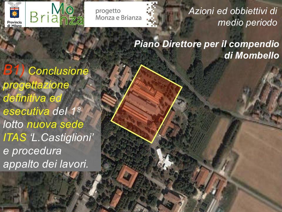 B1) Conclusione progettazione definitiva ed esecutiva del 1° lotto nuova sede ITAS L.Castiglioni e procedura appalto dei lavori. Piano Direttore per i