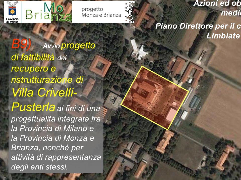 B9) Avvio progetto di fattibilità del recupero e ristrutturazione di Villa Crivelli- Pusterla ai fini di una progettualità integrata fra la Provincia