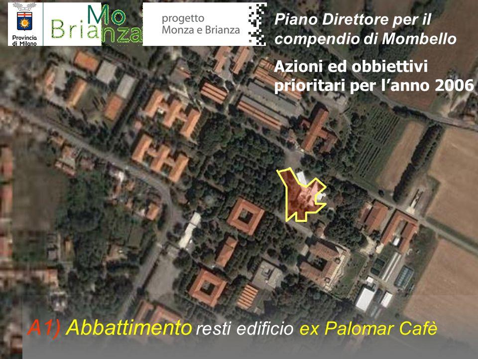 A1) Abbattimento resti edificio ex Palomar Cafè Azioni ed obbiettivi prioritari per lanno 2006 Piano Direttore per il compendio di Mombello