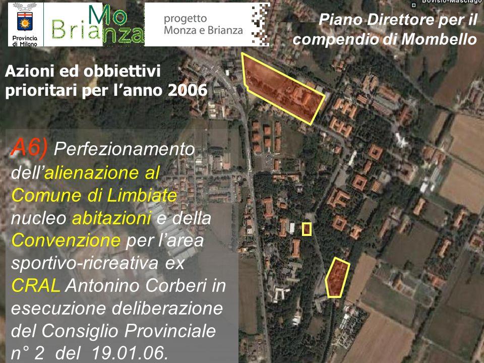 A6) Perfezionamento dellalienazione al Comune di Limbiate nucleo abitazioni e della Convenzione per larea sportivo-ricreativa ex CRAL Antonino Corberi