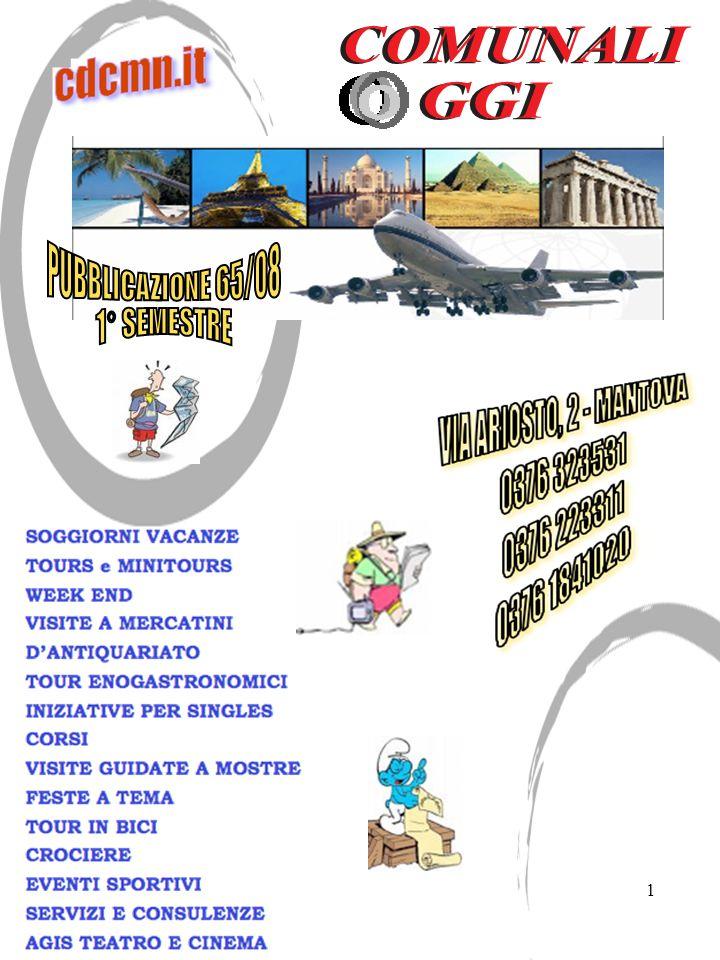 32 PROGRAMMA Il ritrovo dei partecipanti è fissato : ORE 15.15MANTOVA Via Ariosto, 2/B ( Sede circolo comunali ) ORE 16.15 NOGARA Via G.