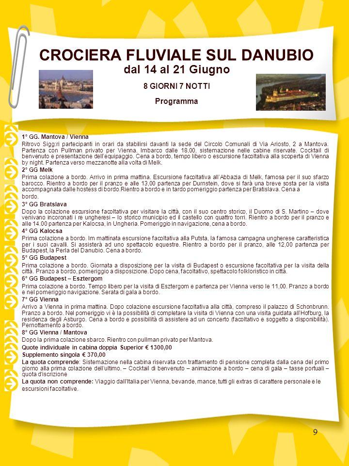 50 PROGRAMMA Il ritrovo dei Signori partecipanti è fissato come segue: ORE 06.00 MANTOVA Via Ariosto, 2 - Sede circolo comunali ORE 06.30 NOGARA Via Falcone-Borsellino Sistemazione in pullman GT riservato e partenza per San Daniele del Friuli.