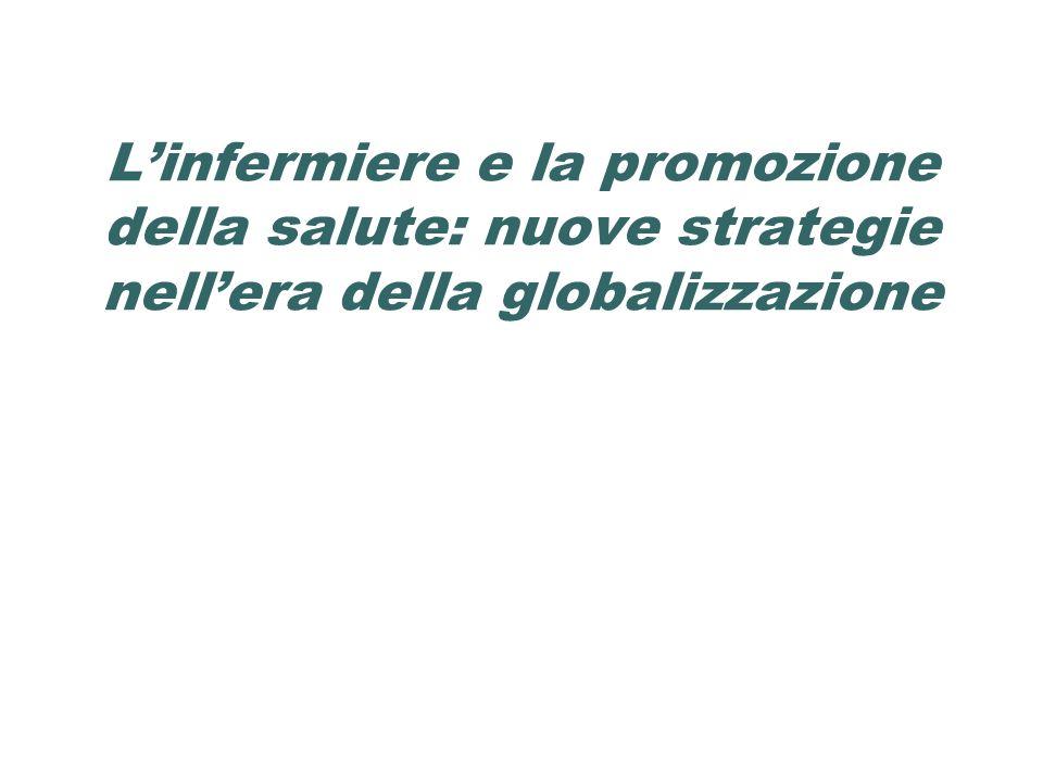 Linfermiere e la promozione della salute: nuove strategie nellera della globalizzazione
