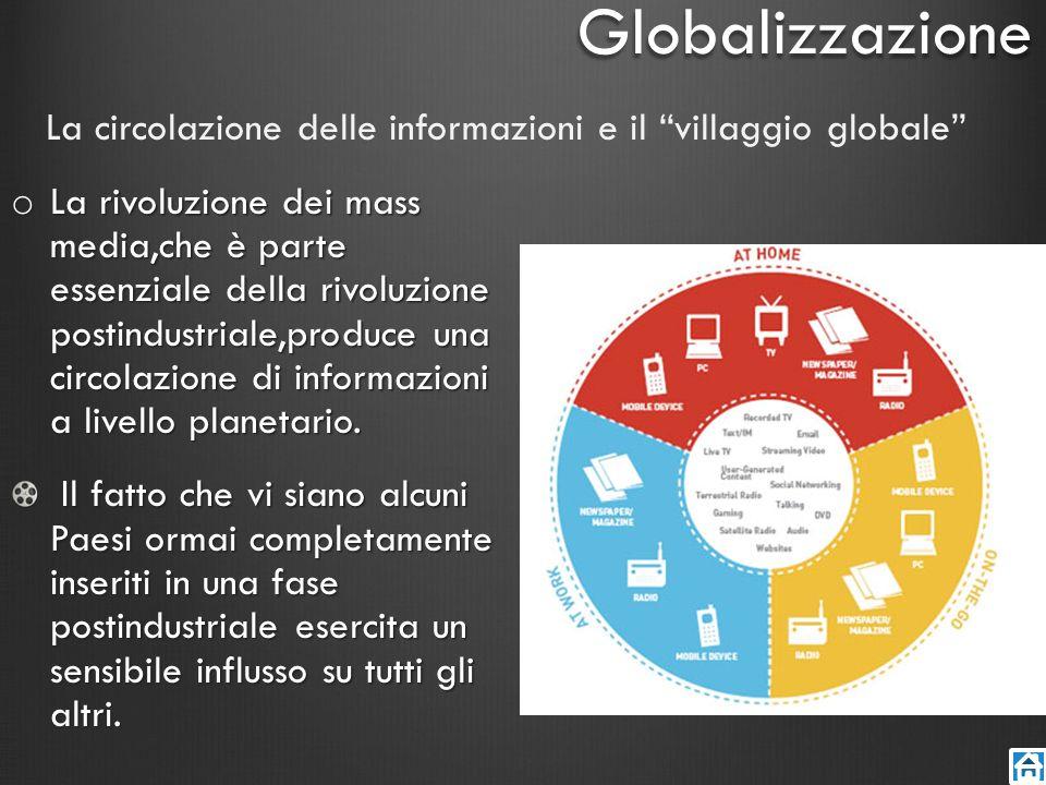 La circolazione delle informazioni e il villaggio globale o La rivoluzione dei mass media,che è parte essenziale della rivoluzione postindustriale,pro