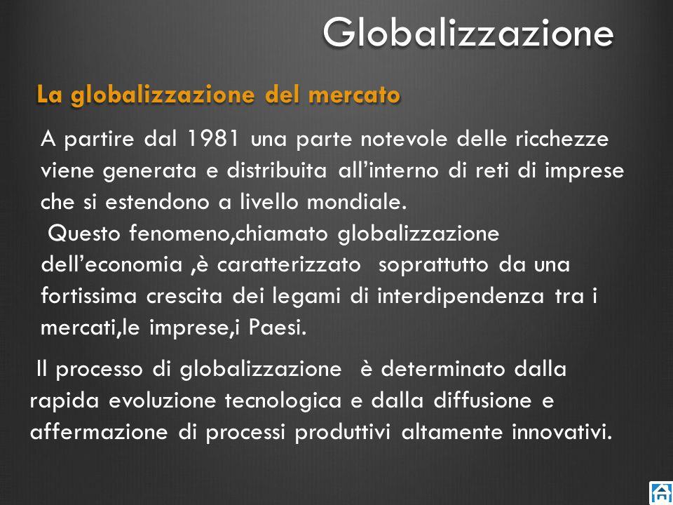 Multinazionali Anche la diffusione negli ultimi cinquantanni di grandi multinazionali ha contribuito ad avviare il processo di globalizzazione.