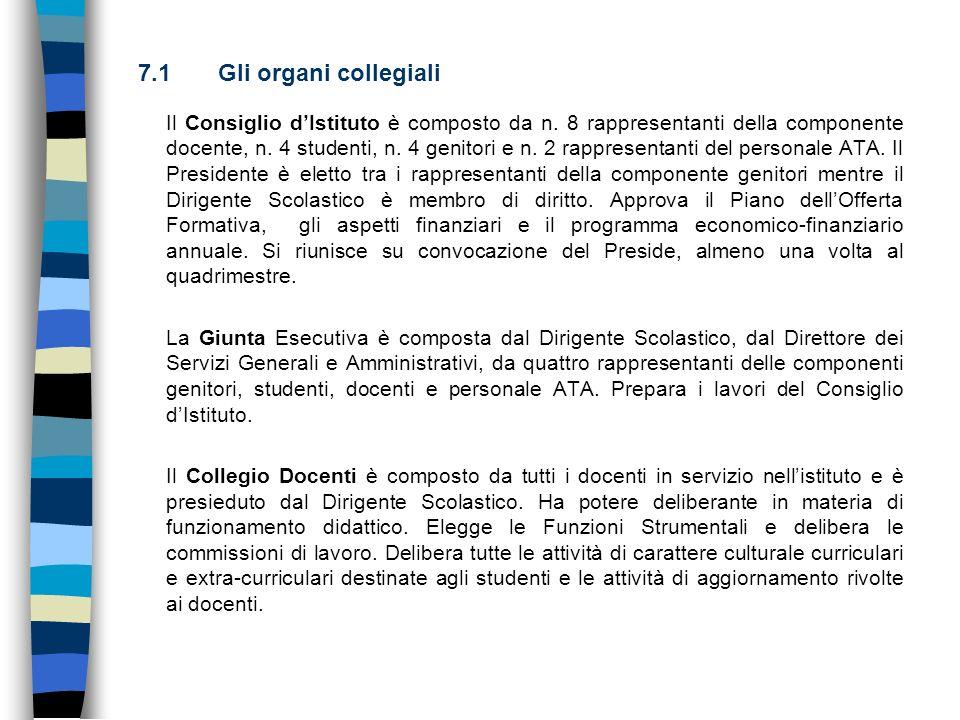 Il Consiglio dIstituto è composto da n. 8 rappresentanti della componente docente, n. 4 studenti, n. 4 genitori e n. 2 rappresentanti del personale AT