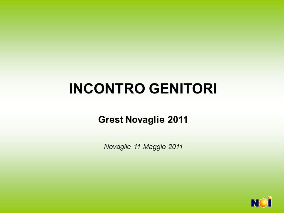 INCONTRO GENITORI Grest Novaglie 2011 Novaglie 11 Maggio 2011