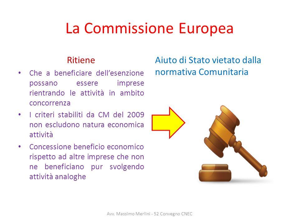 La Commissione Europea Ritiene Che a beneficiare dellesenzione possano essere imprese rientrando le attività in ambito concorrenza I criteri stabiliti